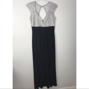 Enfocus Studio | Silver and Black Maxi Dress